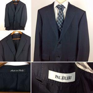 Pal Zileri Black Suit Coat 42L US